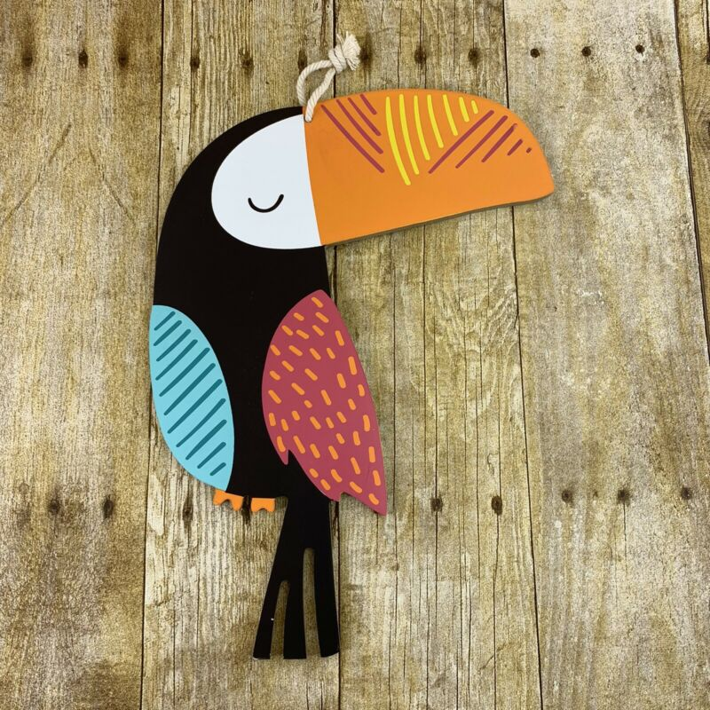 Toucan Bird Display Sign Home Decor Pressed Board