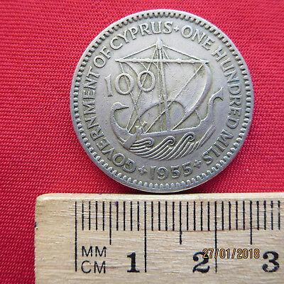 Zypern - Cyprus 100 Mils 1955