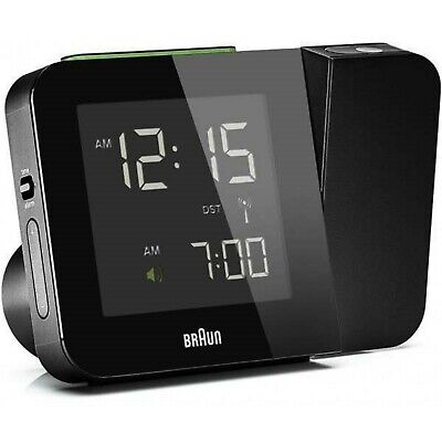 Braun BNC015 Digital Radio Controlled Projection Alarm Clock - Black