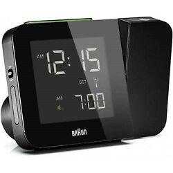 Braun BNC015 Digital Radio Controlled Projection Alarm Clock - Black