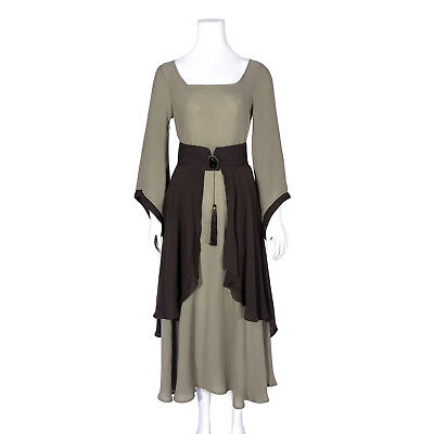 Europe Prairie Peasant Women Costume Medieval Renaissance Dress Long Sleeve - Renaissance Peasant Costumes