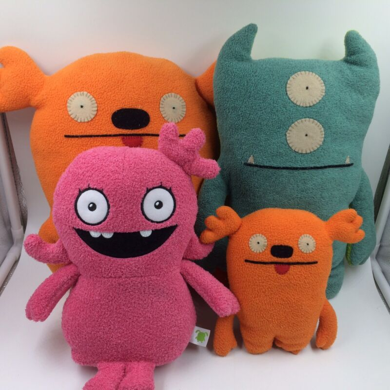 Ugly Dolls lot of 4 various sizes