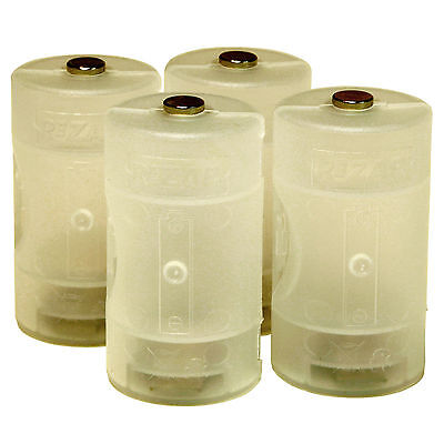 10x Plastic Translucent AA to D Size Cell Battery Adaptor Holder Case Converter