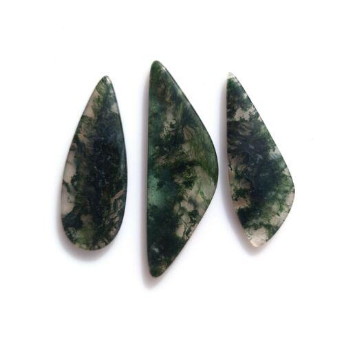 Natural Moss Agate 38cts Mix Shape 36-44mm Gemstone Cabochon