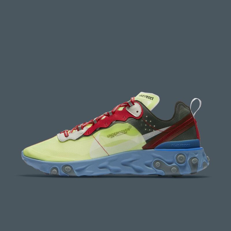 dcb80d3de660 Nike React Element 87 Undercover Volt Varsity Red Black Men s Running  BQ2718-700