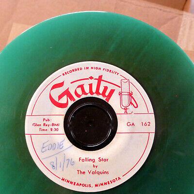 Green Falling Star - the VALQUINS doo-wop GREEN Vinyl 45 My Dear ~Falling Star VG++ GAITY reissue E92