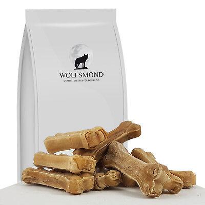 Knochen (Kauknochen gepresste Rinderhaut 10 cm Hundeknochen Hundefutter Kausnack Rind)