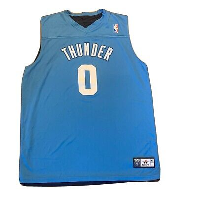 Oklahoma City THUNDER #0 NBA Reversible Light/Dark Blue Jersey Size XL