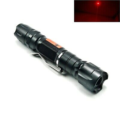 Waterproof 650nm Red Laser Pointer Focusable Dot Torch Flashlight 650t-200-18650
