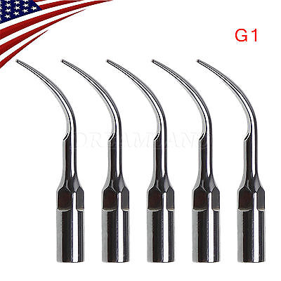 5 Us Stock Dental Ultrasonic Piezo Scaler Tips G1 Fit Ems Woodpecker Handpiece