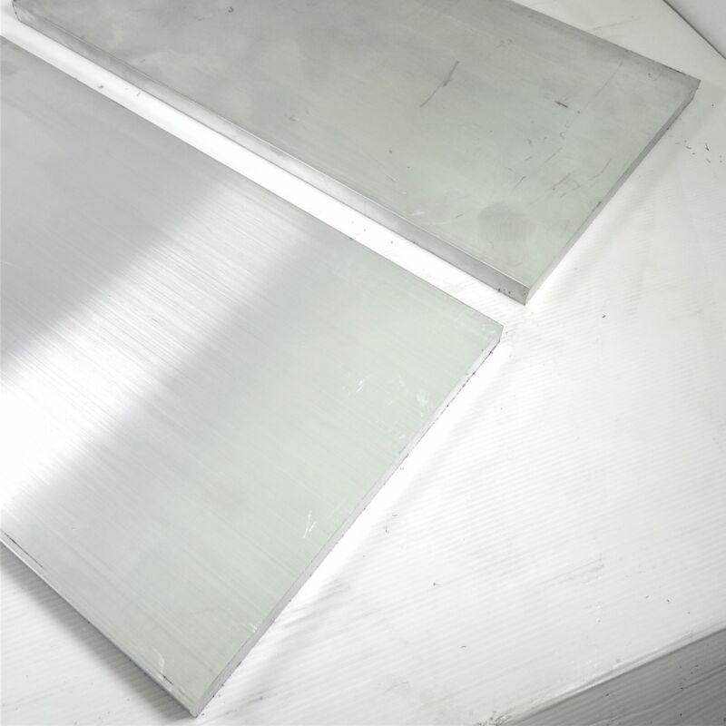 ".75"" x 12"" Aluminum 6061 FLAT BAR 11.375"" Long mill stock Pieces 2 sku M134"