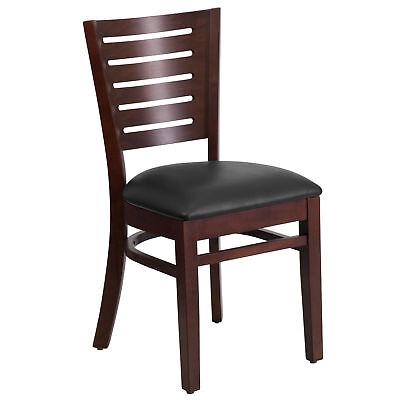 Flash Furniture Darby Series Slat Back Walnut Wooden Restaurant Chair