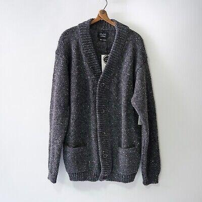 Howlin by Morrison Men's Smokey Cardigan Irish Wool XL NWT