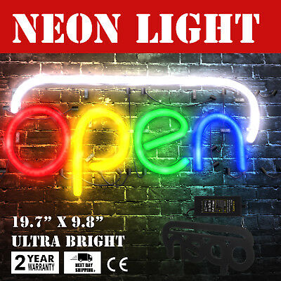 Horizontal Neon Open Sign Light 19.7x9.8 Inch 25w Dormitory Rooms Home Bar