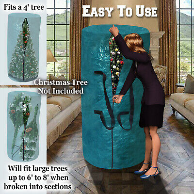 Large Artificial Christmas Tree Carry Round Storage Bag Holiday up to 8-9ft Tree Artificial Tree Storage Bag