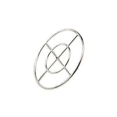 """Stanbroil 18"""" Round Fire Pit Burner Ring, 304 Series Stainless Steel, BTU 147..."""