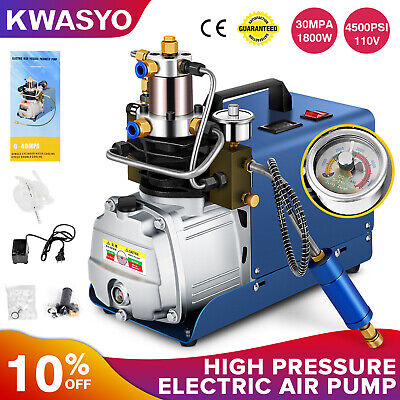 Kwasyo 30mpa Air Compressor Pump 110v Pcp Electric4500psi High Pressure Rifle Us