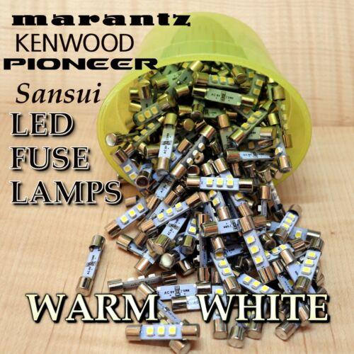 8 Warm White 8v LED Fuse Lamp For Vintage Stereo Receiver