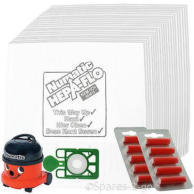 GENUINE Henry Hoover Bags x 20 Hetty Vacuum Cleaner Numatic Cloth Bag - Hepaflo