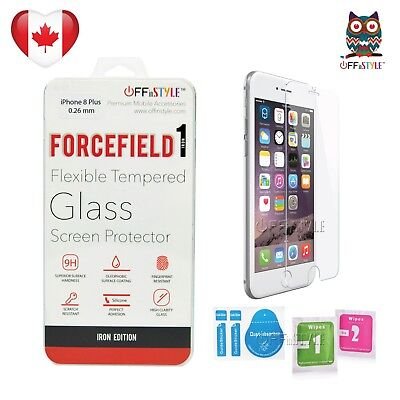 "Tempered Glass Screen Protector Designed for Apple iPhone 8 Plus 5.5""  0.26mm"