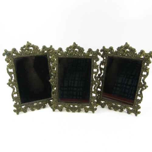 """Lot of 3 Vintage Picture Frame 3.5 x 5"""" Made in Italy for Action Cheswick PA"""