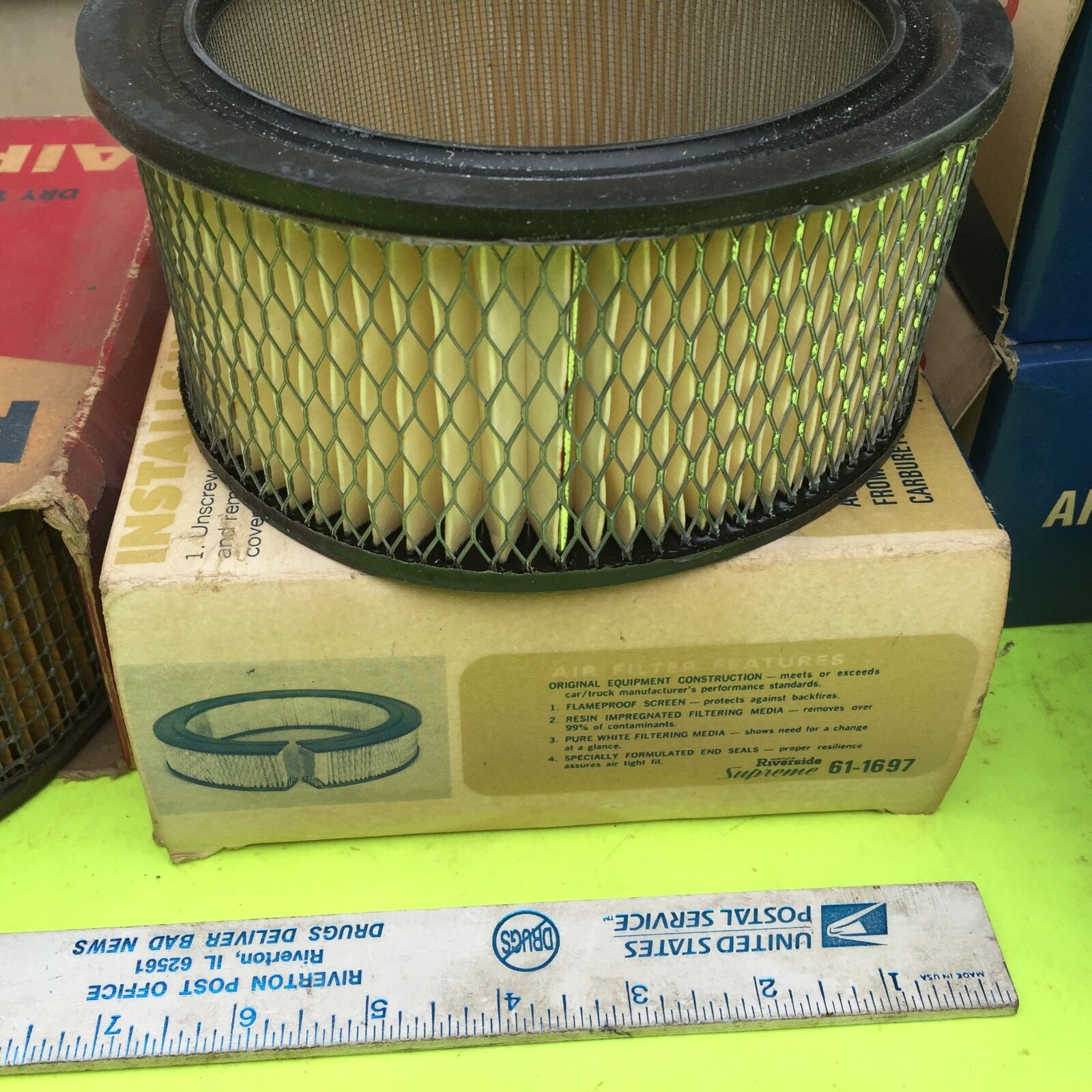 Ford, GM, other old car, air filter.   Riverside 61-1697.        Item:  4648