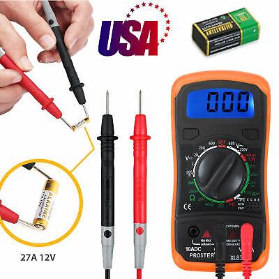 Digital Multimeter Ac Dc Voltmeter Ammeter Ohmmeter Volt Tester Meter Diode Test