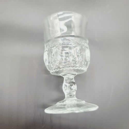 Vintage Small Wine Glass Pressed Thick - $7.75