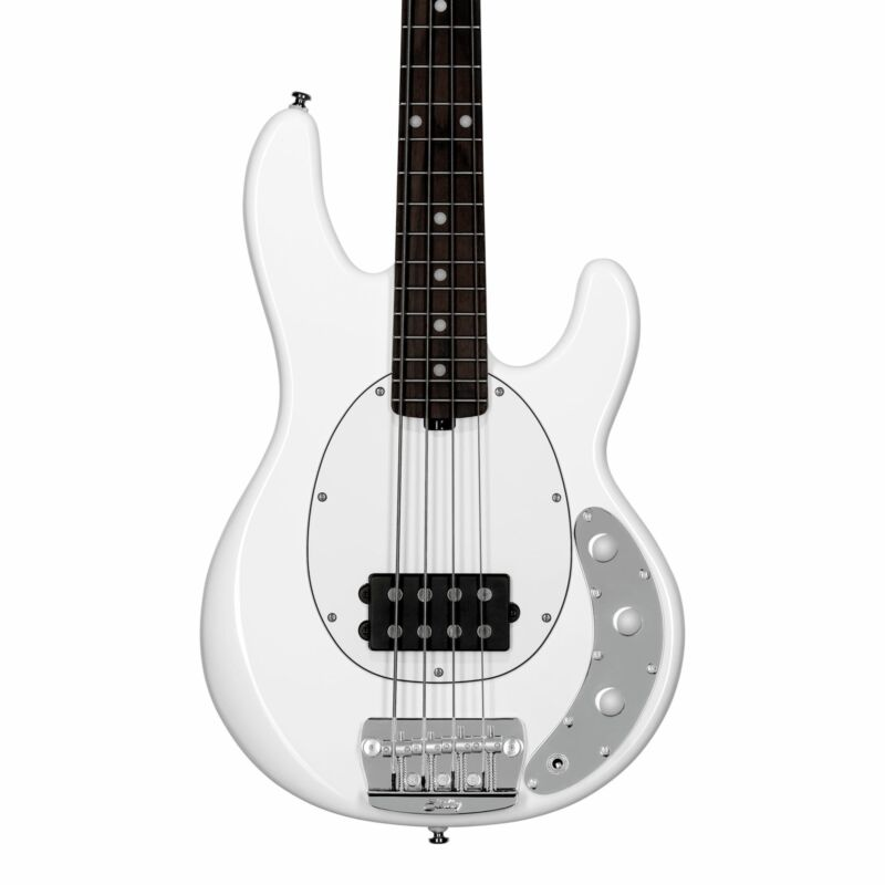 Sterling by Music Man Short Scale StingRay, Olympic White