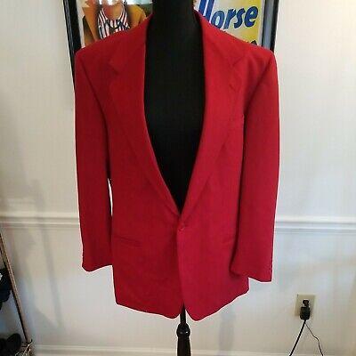 Vintage 90s Versus Versace Cherry Red Blazer Jacket Coat 52L
