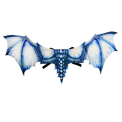 Adult Child Ice Dragon Halloween Costume Wings Blue Game of Thrones LARP