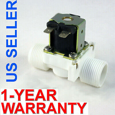 34 Inch Nps Thread 12v Dc Vdc Plastic Nylon Solenoid Valve One-year Warranty