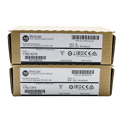 2020 New Sealed Allen Bradley Micrologix 1762-iq16 B 24vdc Input Module