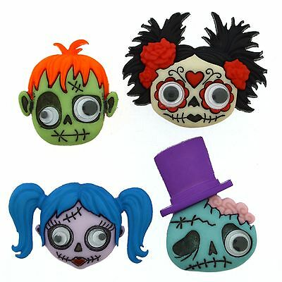 Jesse James Buttons - Dress It Up ~ Zany Zombies 9488  Halloween Zombies - Jesse Halloween