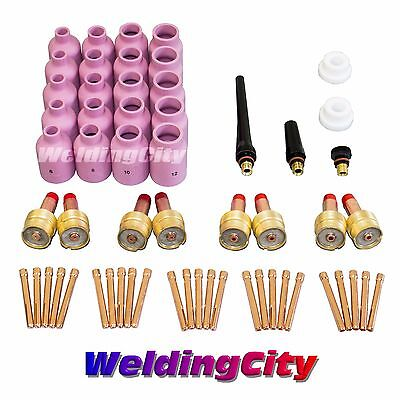 58-pcs Tig Welding Large Gas Lens Accessory Kit Torch 171826 Tak22 Us Seller