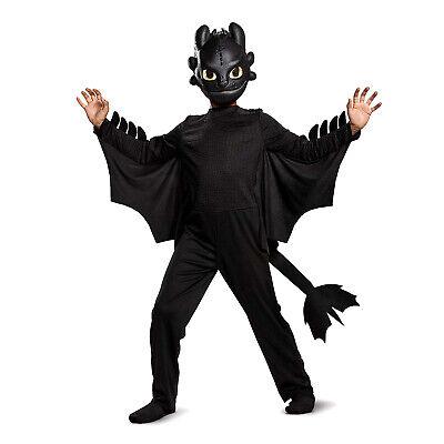 Toothless Dragon Halloween Costume (Child Boys Black Toothless How To Train Your Dragon Halloween Costume +)