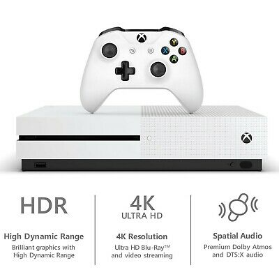🔥 Brand New Microsoft Xbox One S 1TB Console + Controller Fast Shipping White