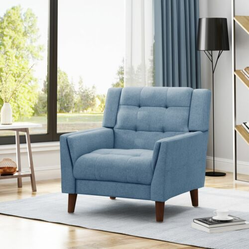 Anvith Mid Century Modern Fabric Arm Chair Chairs