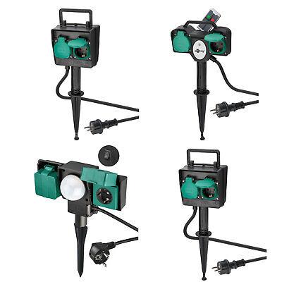 Gartensteckdose 2-fach | 4-fach IP44 für Outdoor Timer | Sensor | Fernbedienung