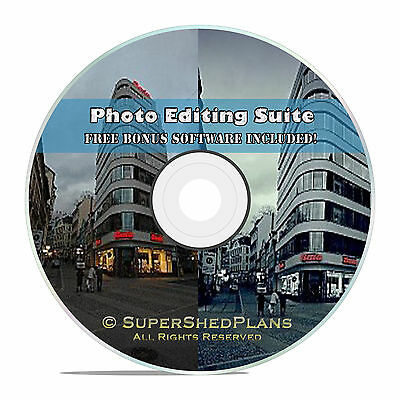 Digital Image Photo Editor Editing Software Suite Cd  W  Free Office Software