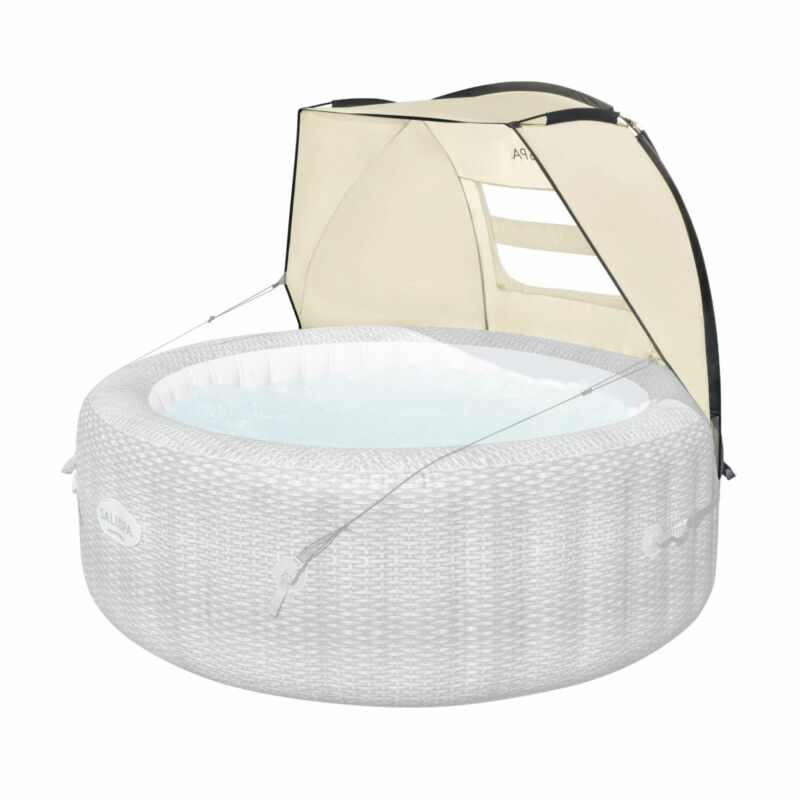 Bestway 60304 Small Sun Shade Canopy Accessory for Round Inflatable Hot Tub Spas