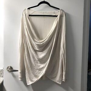 d4e5d98c2a461 Lululemon size 8 knit wrap sweater top