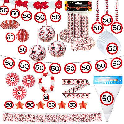 Geburtstagsdeko 50. Geburtstag Partydeko Party Zubehör Dekoration Deko 50 Jahre