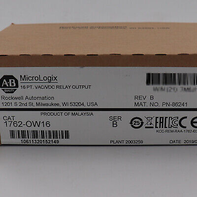 Allen-bradley Micrologix 16 Pt Relay Output Module 1762-ow16 New Factory Sealed
