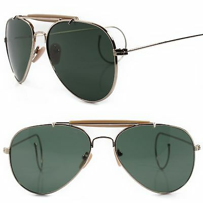 Classic Retro Old 80s 90s Flexible Cable Temples Ear Wrap Gold Small Sunglasses](80s Wrap Sunglasses)