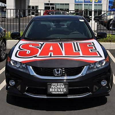 Sale   Large Vehicle Flag Hoodie Auto Car Dealer Advertising Red Letters New