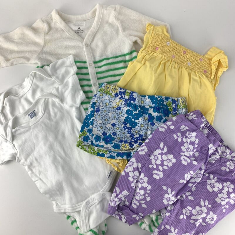 Baby Girls Lot Of Childrens Clothing Summer 6 Pieces Baby Gap Janie And Jack