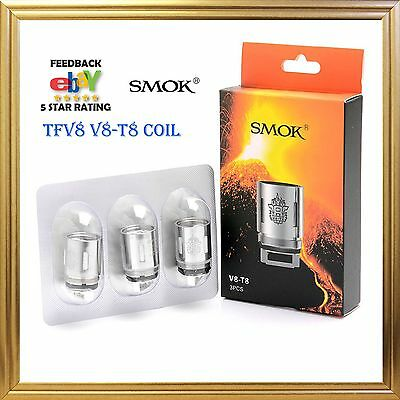 AUTHENTIC SMOK TFV8 Cloud Beast V8-T8 Replacement Coils 3 PCS 1 PACK US STOCK