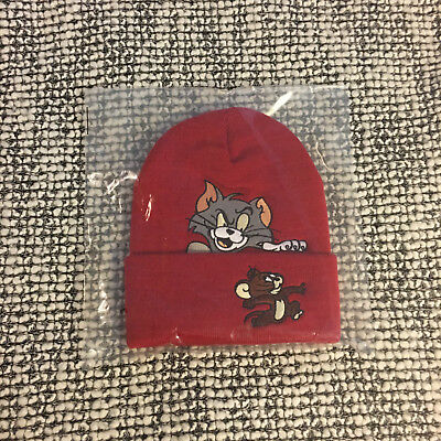 Supreme 2016 F/W Tom and Jerry Beanie RED Box Logo Big S Brooklyn NYC Box Logo