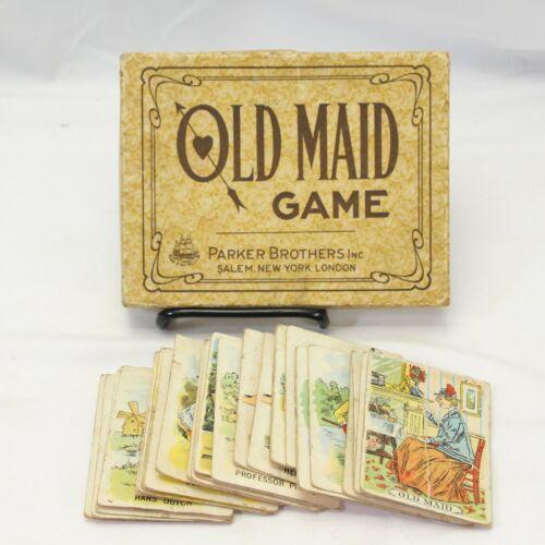 Parker Brothers Vintage Old Maid Card Game